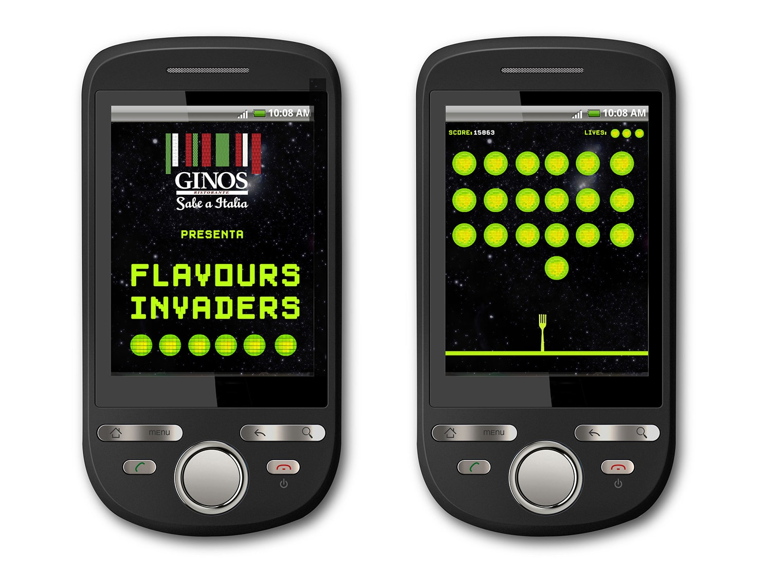 Ginos APP FLAVOUR INVADERS